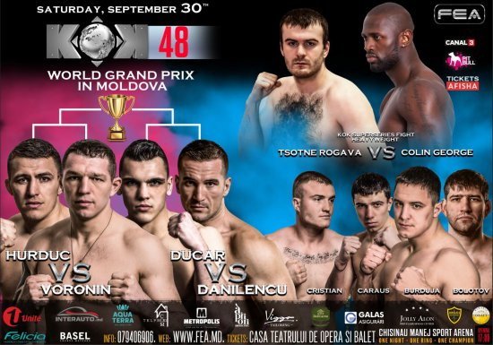 KOK 48 WORLD GP in MOLDOVA. September 30th Manej Arena.