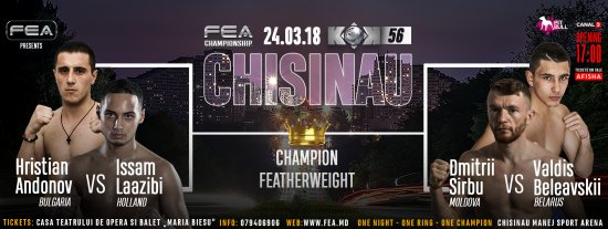 FEA presents! Crazy Fighting Night KOK 56 in CHISINAU!