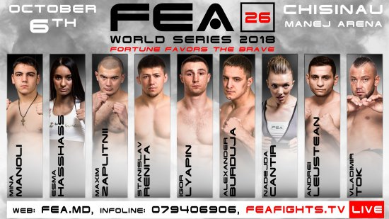 Promo FEA WORLD SERIES 2018 vol 26, Chisinau, October 6, Manej Arena