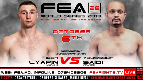 FEA WORLD SERIES 2018, October 6th.