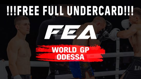 FEA WGP ODESSA Undercard !!! Free full video !!!