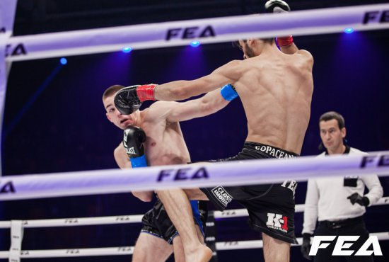 Free full video. Hubert Dylewsky vs Radu Copaceanu. FEA Kickboxing Undercard 7 dec 2019